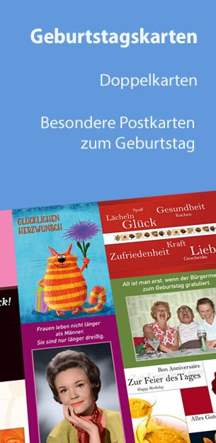 Postkarten und Doppelkarten zum Geburtstag