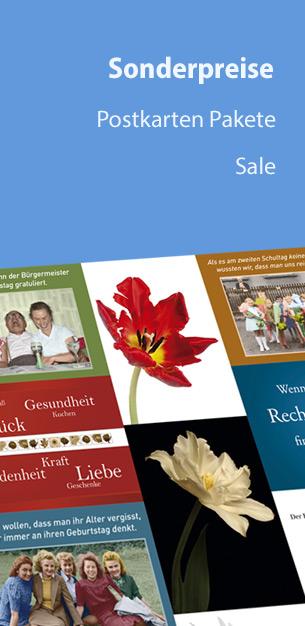 Postkarten Sonderpreise - Sale und Postkartenpakete
