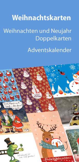 Weihnachtskarten - Postkarten, Doppelkarten und Adventskalender zu Weihnachten und Neujahr